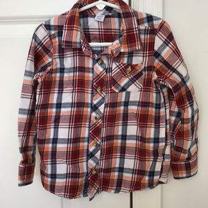 Boys Old Navy 5T flannel button down